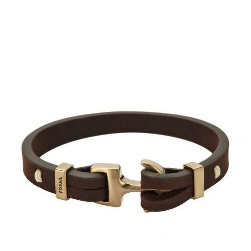 Fossil Bransoletka brown/goldcoloured (4053858460461)