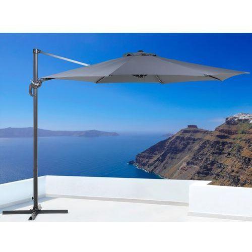 Parasol ogrodowy – antracytowy – ø 291 cm – na wysiegniku – metalowy - SAVONA - produkt z kategorii- parasole ogrodowe