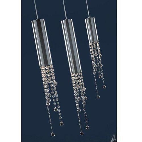 Wisząca LAMPA glamour LARIX MD93708-3A Italux kryształowa OPRAWA zwis crystal chrom przezroczysty, kolor Srebrny