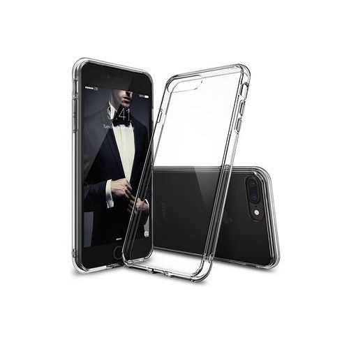 Apple iPhone 8 Plus - etui na telefon Ringke Fusion - transparentny, ETAP610RGFUCLR000