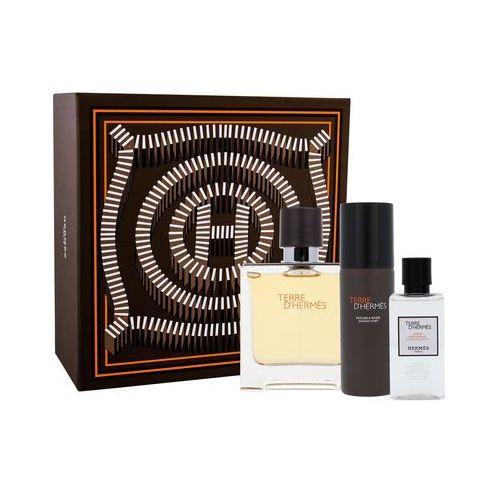 terre d´hermes zestaw 75ml perfumy + 40ml woda po goleniu + 50ml pianka do golenia dla mężczyzn marki Hermes