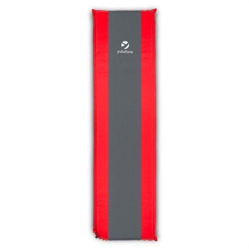 Yukatana goodrest 10 izomata/karimata 10cm materac powietrzny zagłówek samopompująca czerwono-szara