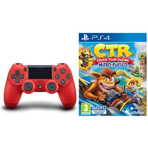 Sony DualShock 4 v2 (czerwony) + Crash Team Racing Nitro-Fueled, KAK4DUALS4CRAS