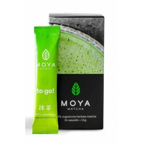 Moya matcha (herbaty zielone, matcha) Herbata zielona matcha w proszku w saszetkach bio (24 x 1,5 g) 36 g - moya matcha