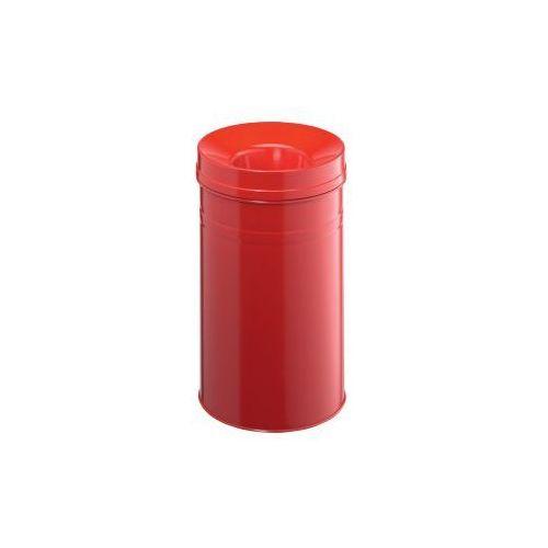 Kosz na śmieci okrągły 30l SAFE+ czerwony - produkt dostępny w dobiura24.pl