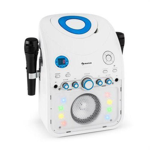 auna StarMaker Zestaw karaoke Odtwarzacz CD Bluetooth AUX Efekt świetlny LED 2 x mikrofon (4260435912927)