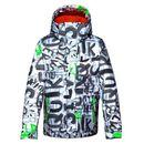 Produkt z kategorii- kurtki dla dzieci - Kurtka snowboardowa Quiksilver Mission Printed 024 wbb2 the line white 2014/15 kids