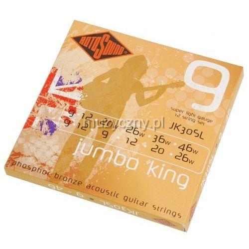 jk-30sl jumbo king struny do gitary akustycznej 12-str 9-46 marki Rotosound