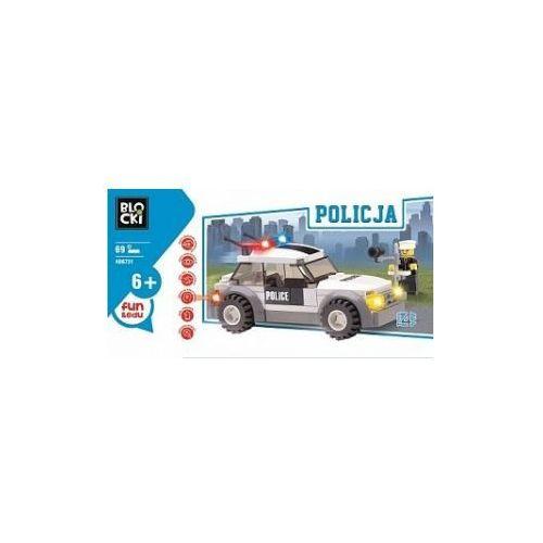 Klocki blocki policja radiowóz 69 elementów marki Icom