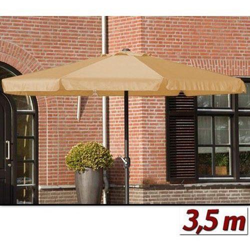 Duży parasol ogrodowy o średnicy 350 cm z korbą - beżowy wyprodukowany przez Wideshop