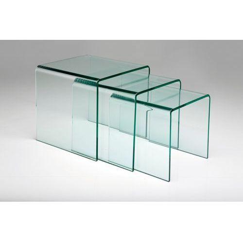 Kare design :: stolik clear club nest (3 / set) - szkło ||szkło 12 mm