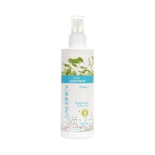 Chia proteinowy spray do włosów z olejem z nasion chia - mocne utrwalanie 237ml marki Aubrey