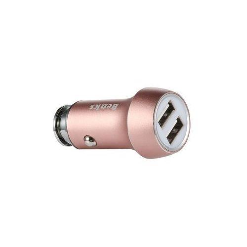 Ładowarka Samochodowa Benks 2x USB - Rose Gold