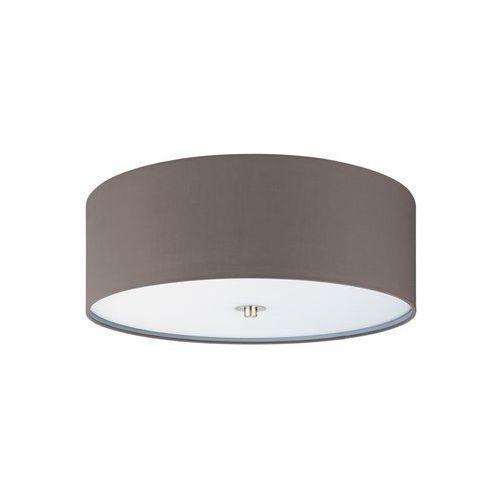 Plafon lampa sufitowa pasteri 94922 okrągła oprawa abażurowa grafitowo-brązowa marki Eglo