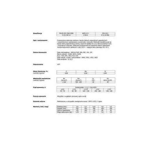 ELEKTRODA PERFECTT FI 2,5mm 3,4kg RUTYLOWA ŻÓŁTA ()
