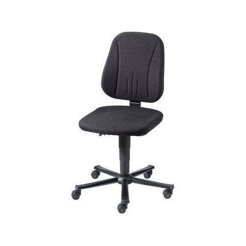 Krzesło robocze esd, obicie z materiału czarne, stojak na pięciu nogach z rurki marki Bimos