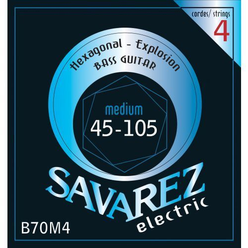 Savarez (682315) struny do gitary basowej Hexagonal Explosion 4-str. Medium