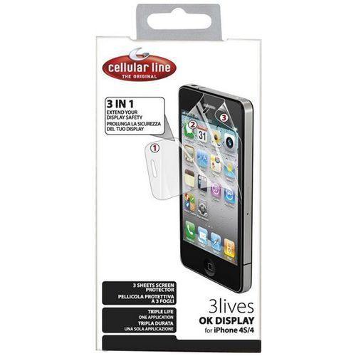 Cellular line Folia ochronna do iphone 4/4s (okdisplay3liphone4)