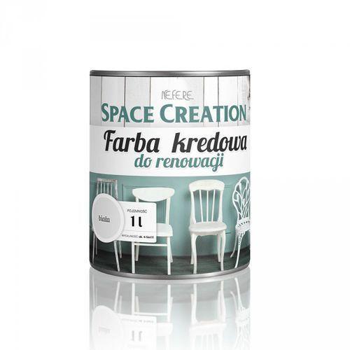 Space creation Farba kredowa do renowacji mebli - biała 1 litr (5906874753545)