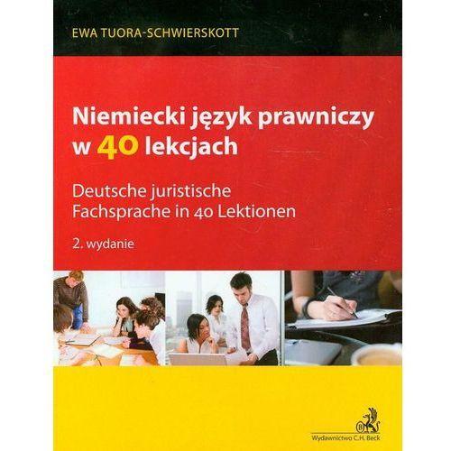 Niemiecki język prawniczy w 40 lekcjach, oprawa miękka