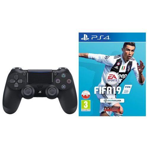 Kontroler SONY DualShock 4 Czarny + FIFA 19 + DARMOWY TRANSPORT! (5902002076579)