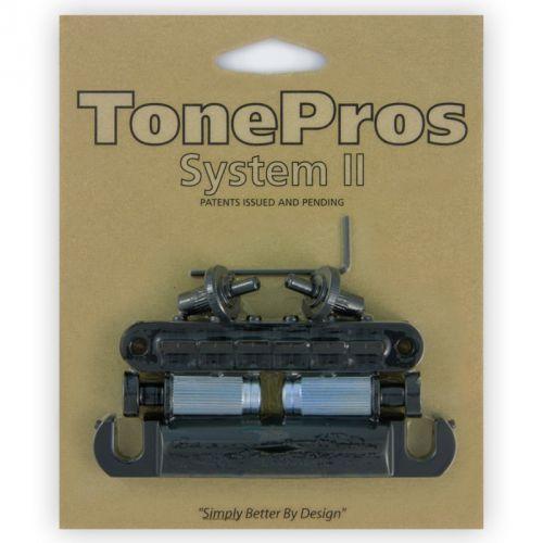 Tonepros lpm04-b - bridge and tailpiece set, mostek do gitary, czarny