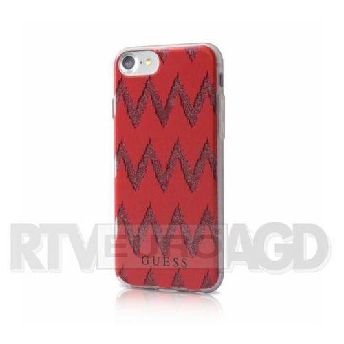 Guess do iphone 7 czerwone (bra004632) darmowy odbiór w 20 miastach! (3700740386477)