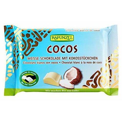 Rapunzel : czekolada biała z wiórkami kokosowymi bio - 100 g