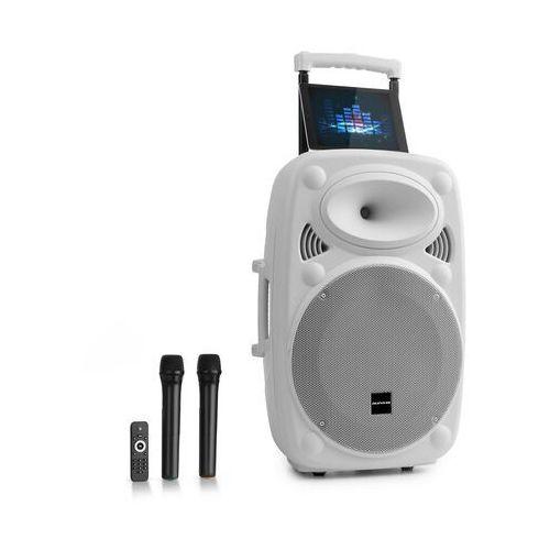 """Auna pro streetstar 15 przenośny zestaw pa 15"""" (38 cm) 2 x mikrofon uhf maks. 1000 w biały"""