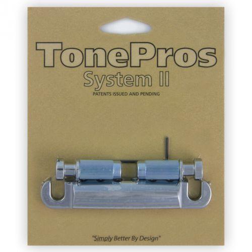 Tonepros t1z-c - tailpiece, części mostka do gitary, chromowane