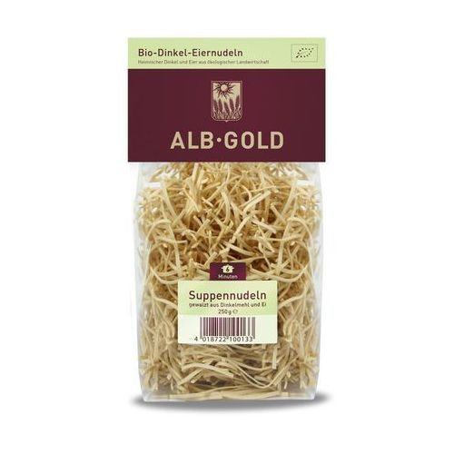Makaron orkiszowy jajeczny nitka bio 250g - marki Alb gold