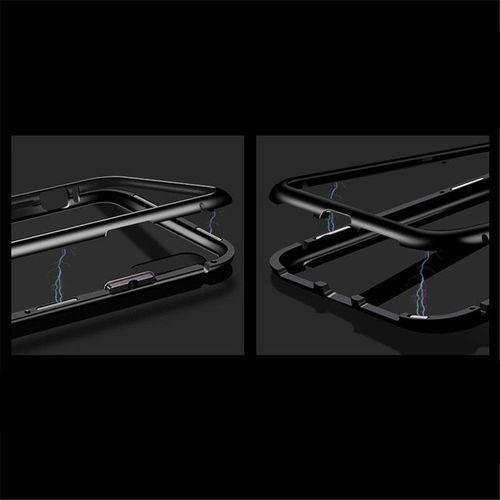 Wozinsky Magnetic Case magnetyczne etui 360 pokrowiec na całą obudowę przód + tył iPhone XR czarny (7426825357526)