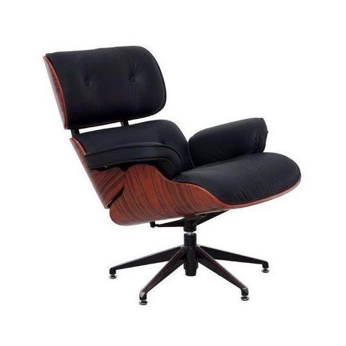 Designerski fotel z podnóżkiem inspirowany projektem Charles & Ray Eames Ottoman Casella