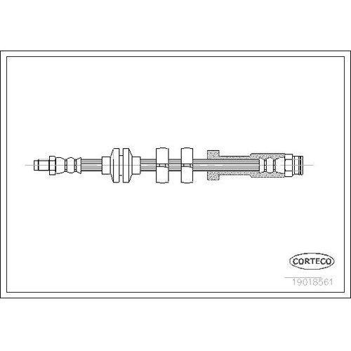 Corteco Przewód hamulcowy elastyczny 19018561 (3358960185617)