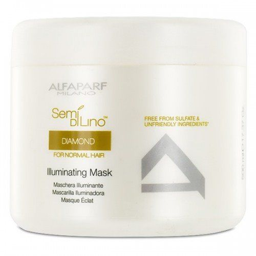 ALFAPARF Semi Di Lino Diamond, Maska rozświetlająca do włosów normalnych 500 ml, 4793