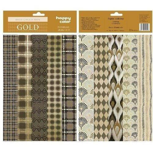 Papier ozdobny Gold mix wzorów HAPPY COLOR (5905130009006)