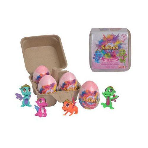 safiras baby princess neon v zestaw 4 jajek musujących figurka smoka księżniczka marki Simba