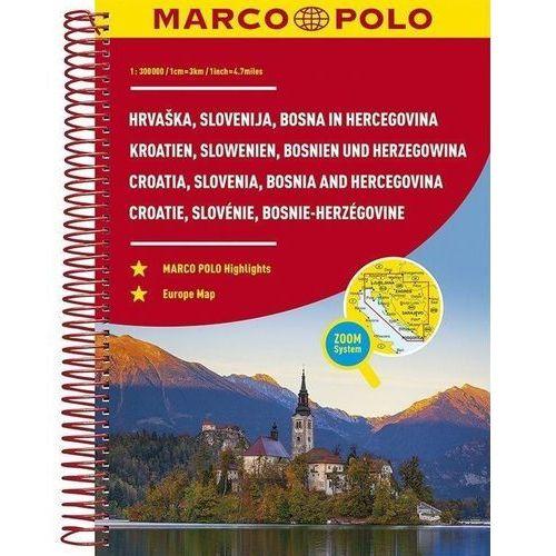 Atlas Chorwacja/Słowenia - 1:300 000 MARCO POLO, praca zbiorowa
