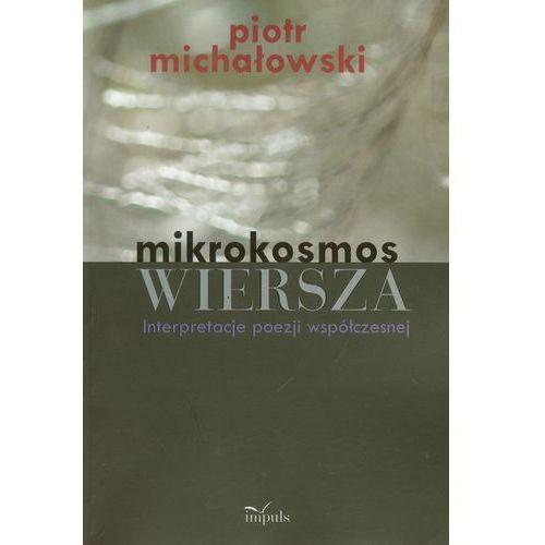 Mikrokosmos wiersza - Wysyłka od 3,99 - porównuj ceny z wysyłką, oprawa miękka