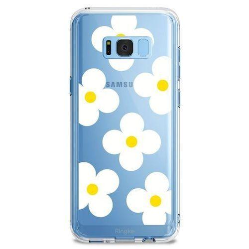 Etui Ringke Fusion Design Samsung Galaxy S8 White Daisies, kolor biały