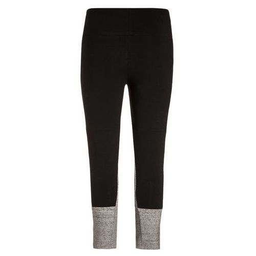 adidas Performance KEY Legginsy black/pepper medium grey heather - oferta [750f6e204515e743]