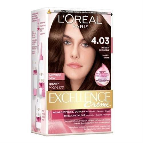 Excellence creme farba do włosów 4.03 świetlisty ciemny brąz - paris marki L'oreal