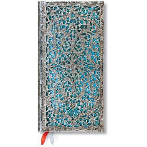 Kalendarz książkowy slim 2019 12M Maya Blue (9781439749043)