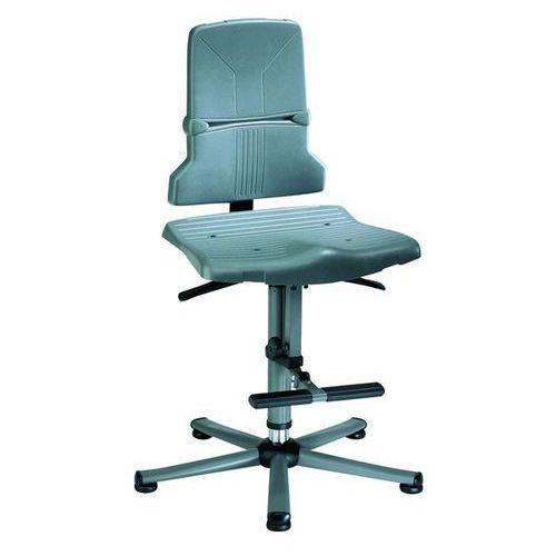 Bimos Obrotowe krzesło do pracy, stały kontakt pleców z oparciem, regulacja nachylenia
