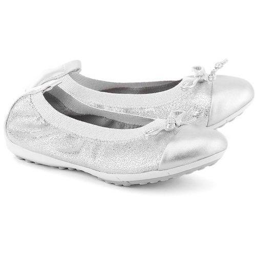 GEOX Junior Piuma Ball - Srebrne Zamszowe Baleriny Dziecięce - J42B0D 000TC C1007 - produkt dostępny w MIVO Shoes Shop On-line