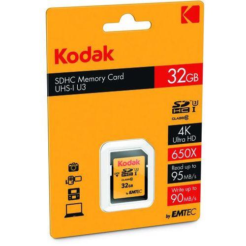 EMTEC KODAK microSDHC 34GB Class 10 U3 +Adapter (3126170143693)