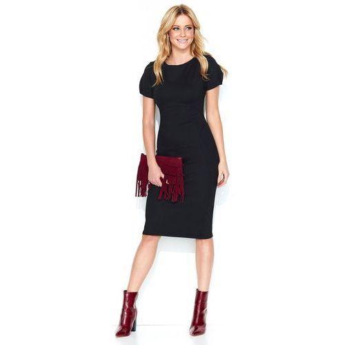 Makadamia sukienka damska 42 czarna, kolor czarny
