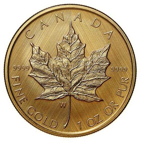 Moneta kanadyjski liść klonowy – znak menniczy w – 1 uncja złota – 24 h! marki Royal canadian mint