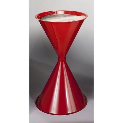 Var fahrzeug- und apparatebau Stożkowa popielniczka stojąca, blacha stalowa, lakierowana proszkowo, czerwona,