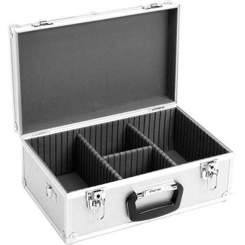 Skrzynia, kufer na płyty cd, dvd  1823-424, 60 płyt cd/dvd, aluminiowy wyprodukowany przez Perel